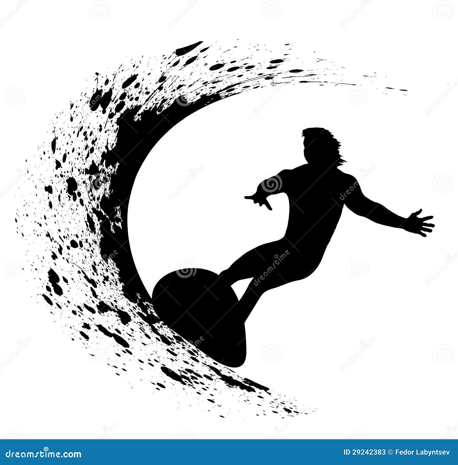 Download Silhuetas dos surfistas ilustração stock. Ilustração de sumário - 29242383