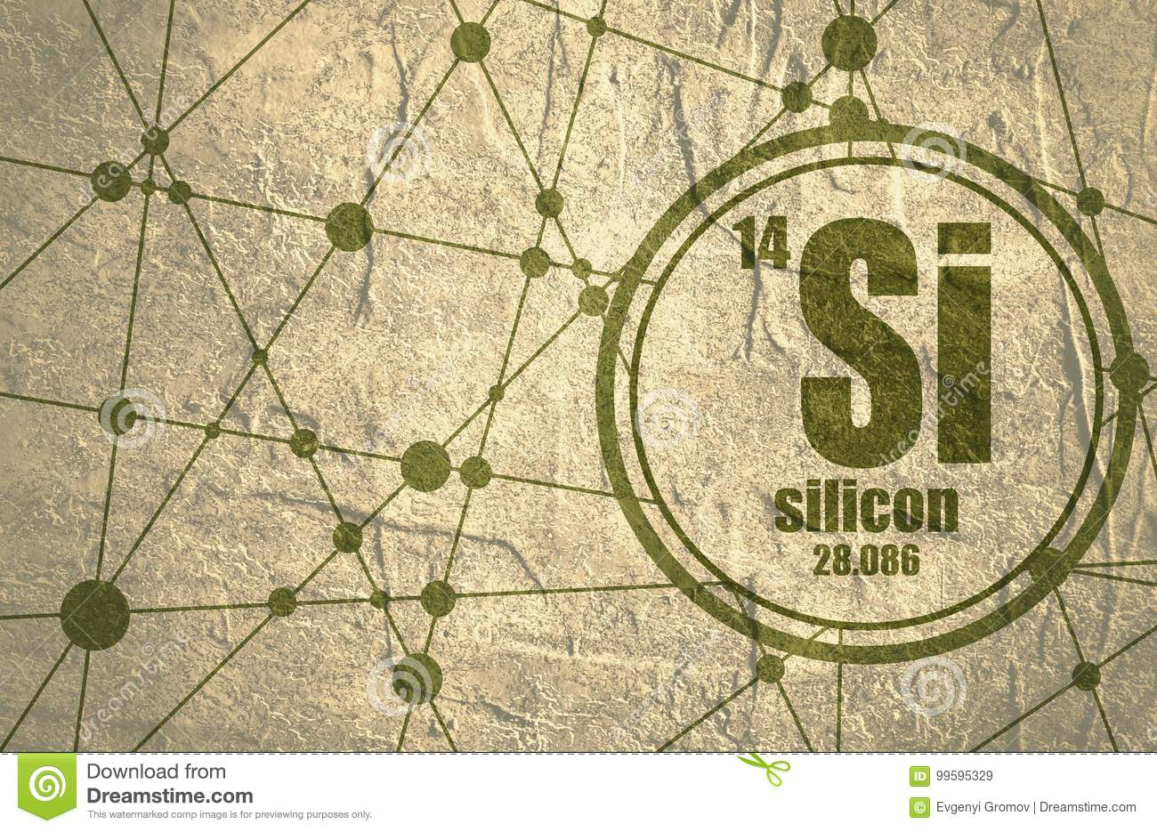 Silicon Chemical Element Stock Illustration Illustration Of