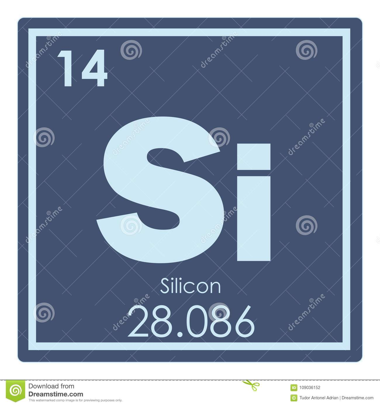 Silicon Chemical Element Stock Illustration Illustration Of Symbol