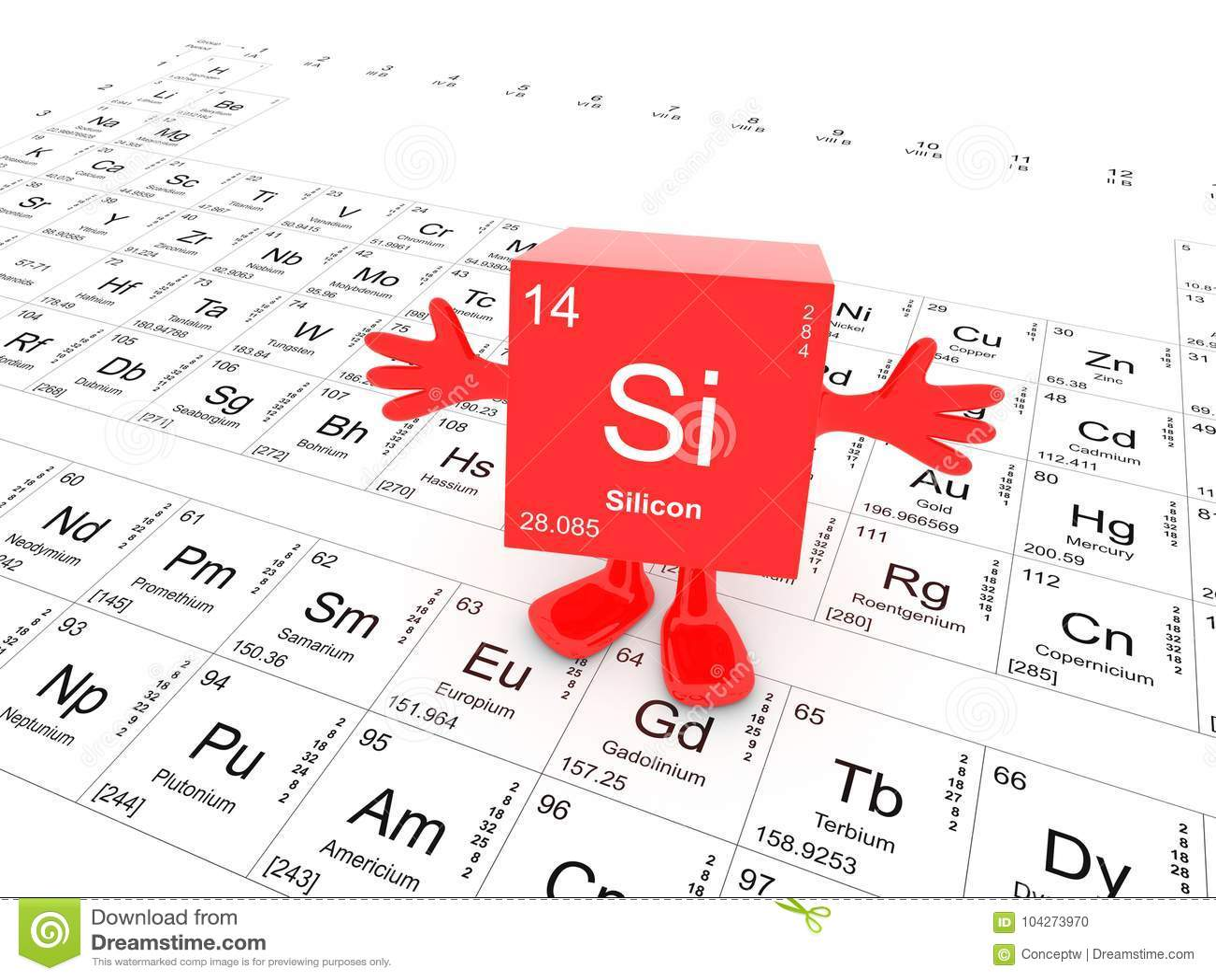 Silicon element symbol stock illustration illustration of silicon element symbol biocorpaavc Gallery