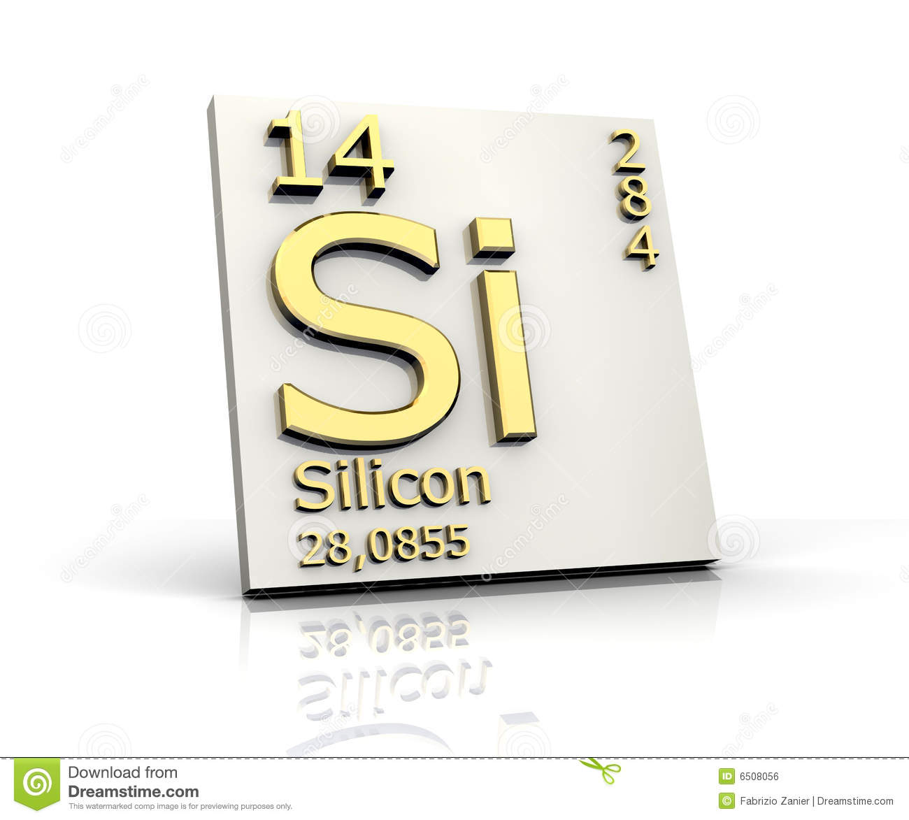 Silicon Form Periodic Table Of Elements Royalty Free Stock ...