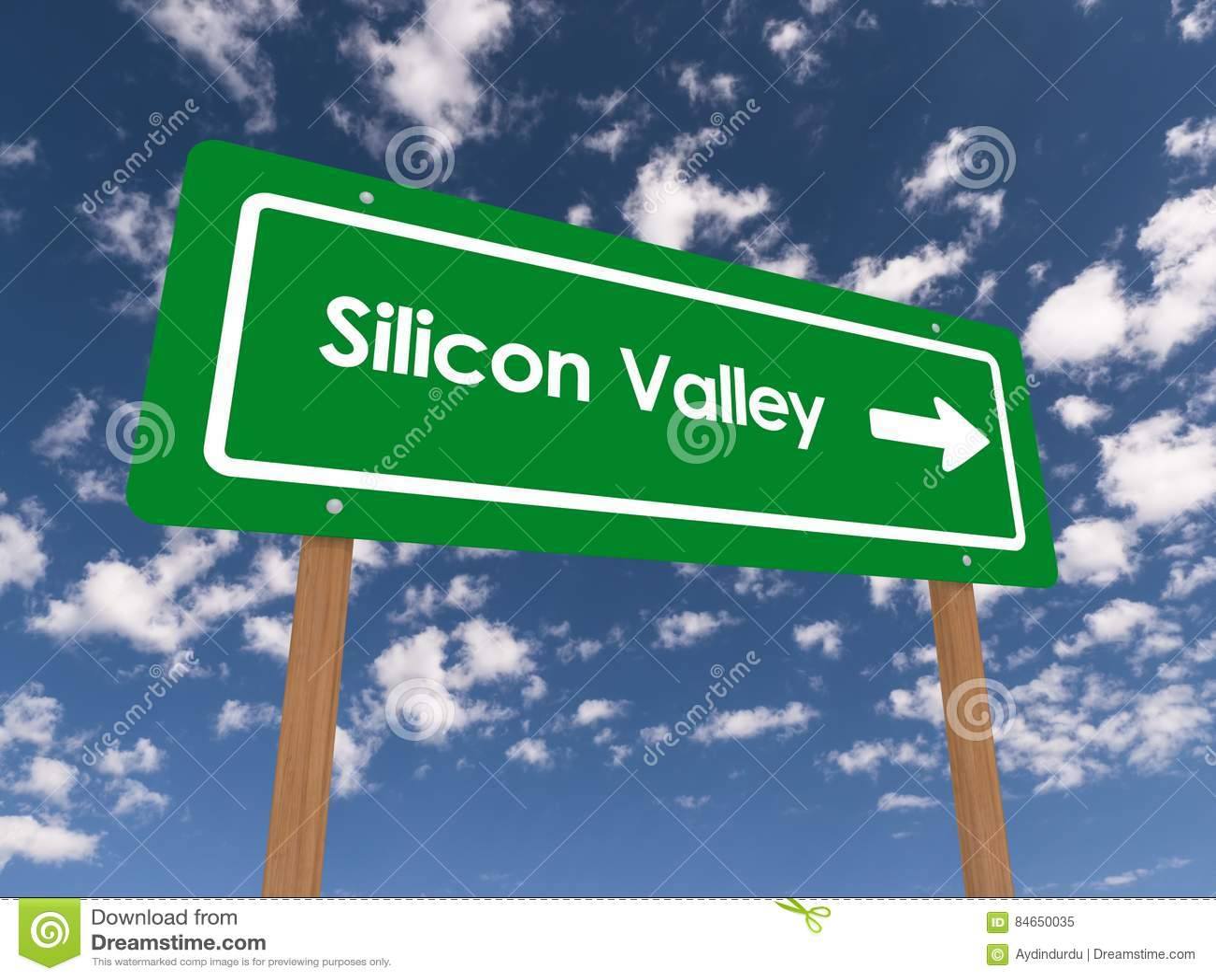 Silicon Valley vägmärke