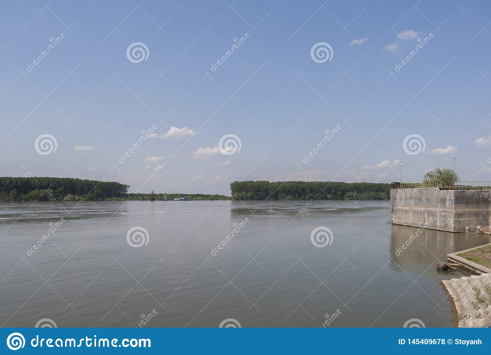 Danube River, passing through the town of Silistra, Bulgaria
