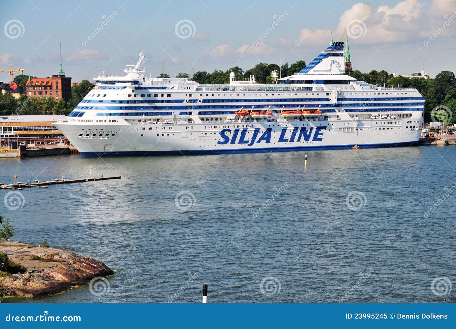 Silja Line In The Harbor Of Helsinki, Finland. Editorial Image - Image: 23995245
