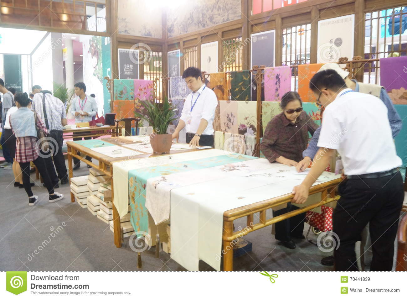 Silk Art Exhibition Sales Editorial Stock Image Image Of China