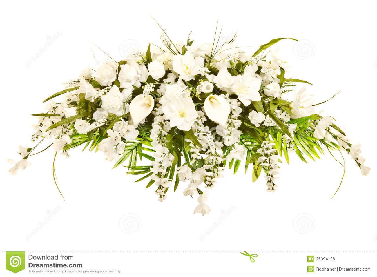 Silk Casket Cover Funeral Floral Arrangement Royalty Free Stock Photos ...