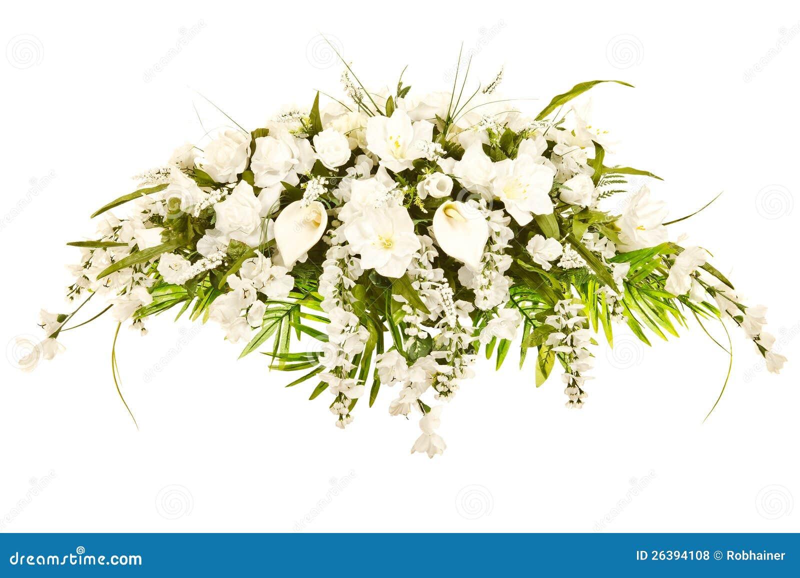 Silk Casket Cover Funeral Floral Arrangement Royalty Free Stock Photos ...