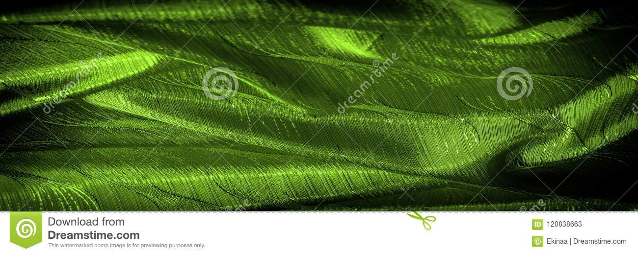 Silk Cloth Green Color On The Fabric Is A Pattern Of Threads Def New Pattern Def