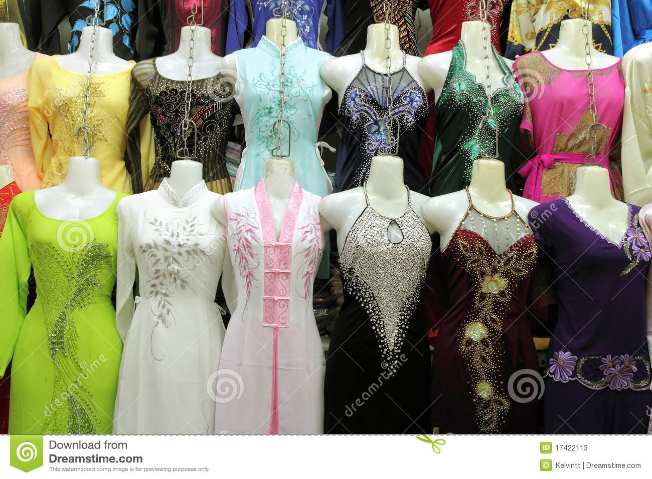 Silk Dresses For Sale At Market Stock Photos Image 17422113