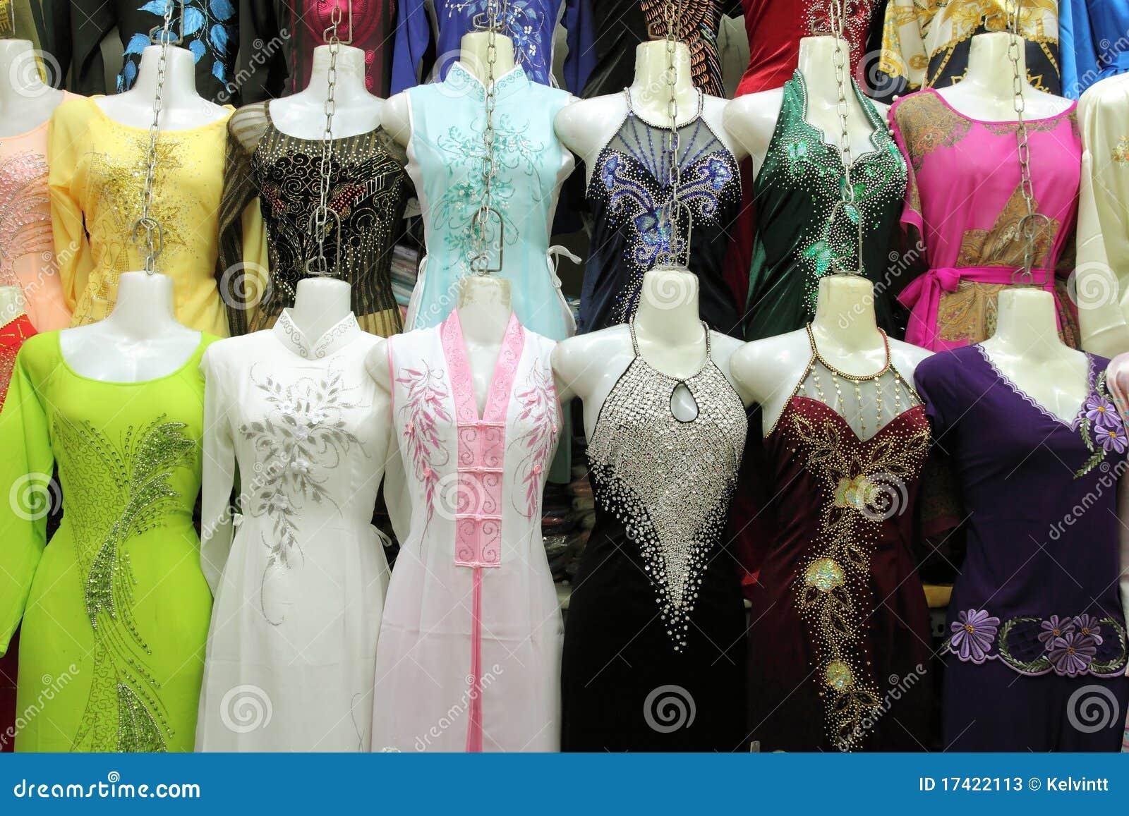 Silk Dresses for Sale at Market