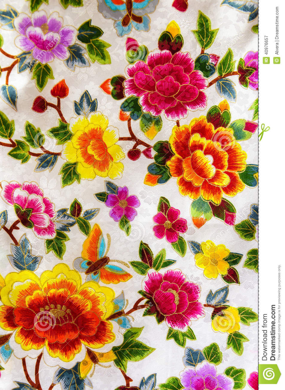 silk embroidery flowers stock image image of special