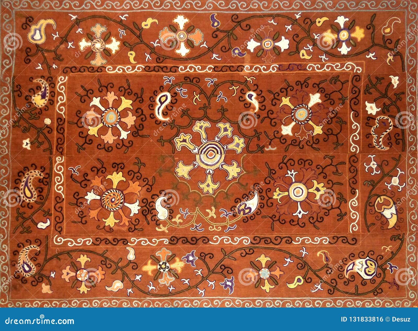 Eastern arabic decorative embroidery pattern