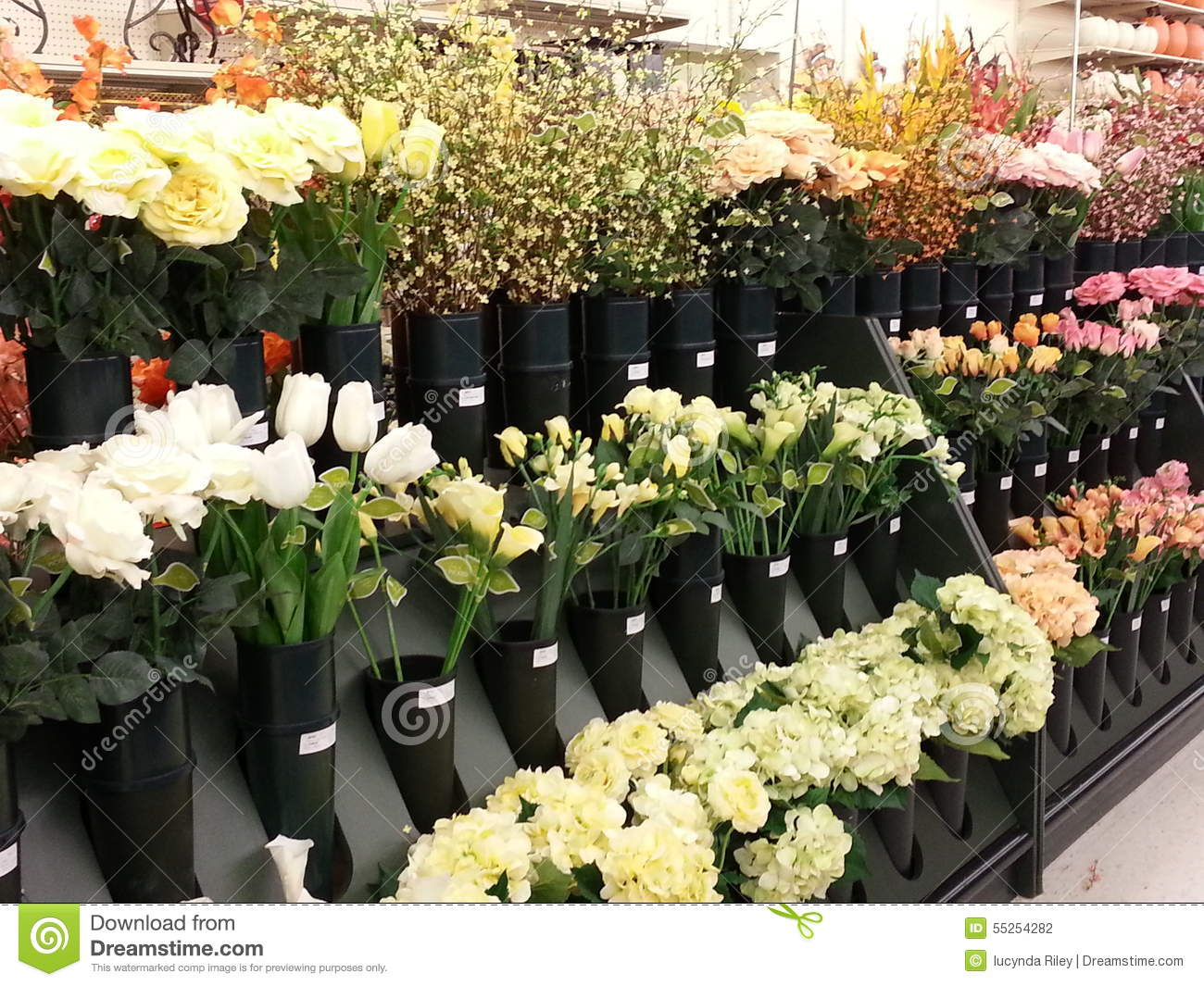 Silk Flowers For Sale Stock Photo Image Of Sale Spring 55254282