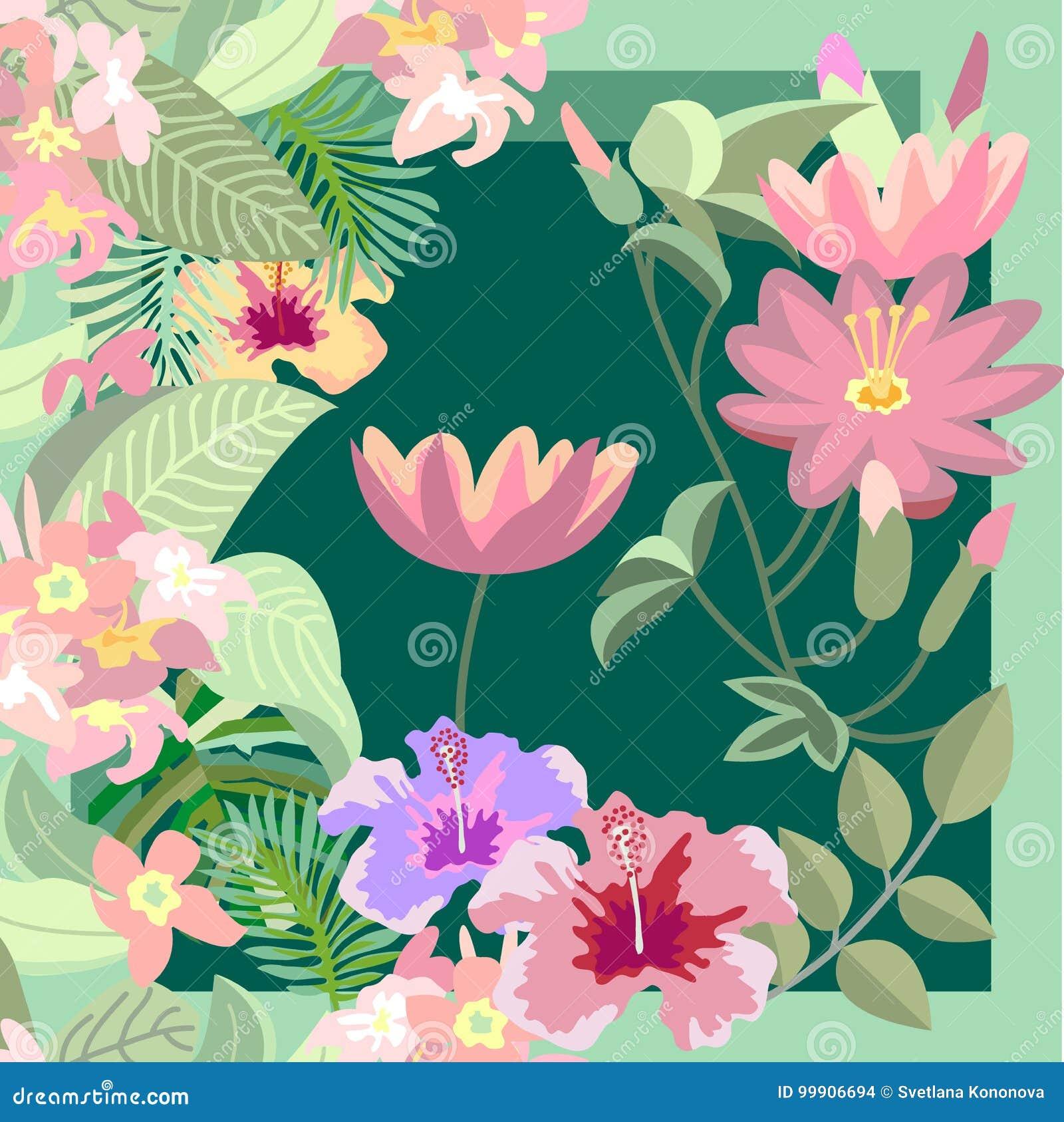Lotus tropical garden stock vector illustration of flower 99906694 download lotus tropical garden stock vector illustration of flower 99906694 izmirmasajfo