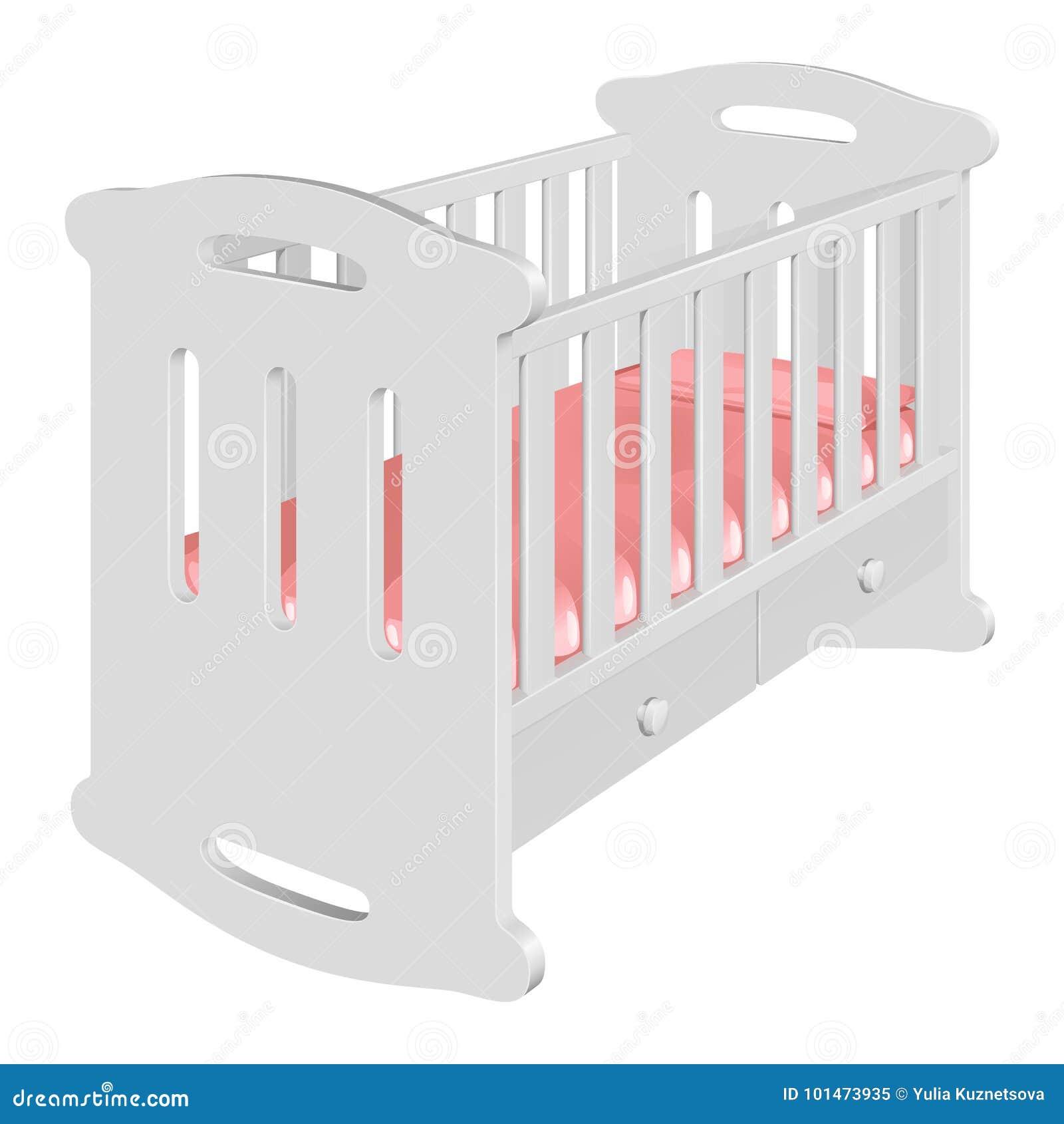 Silla Choza-oscilante Blanca Del ` S De Los Niños Para Un Bebé Stock ...
