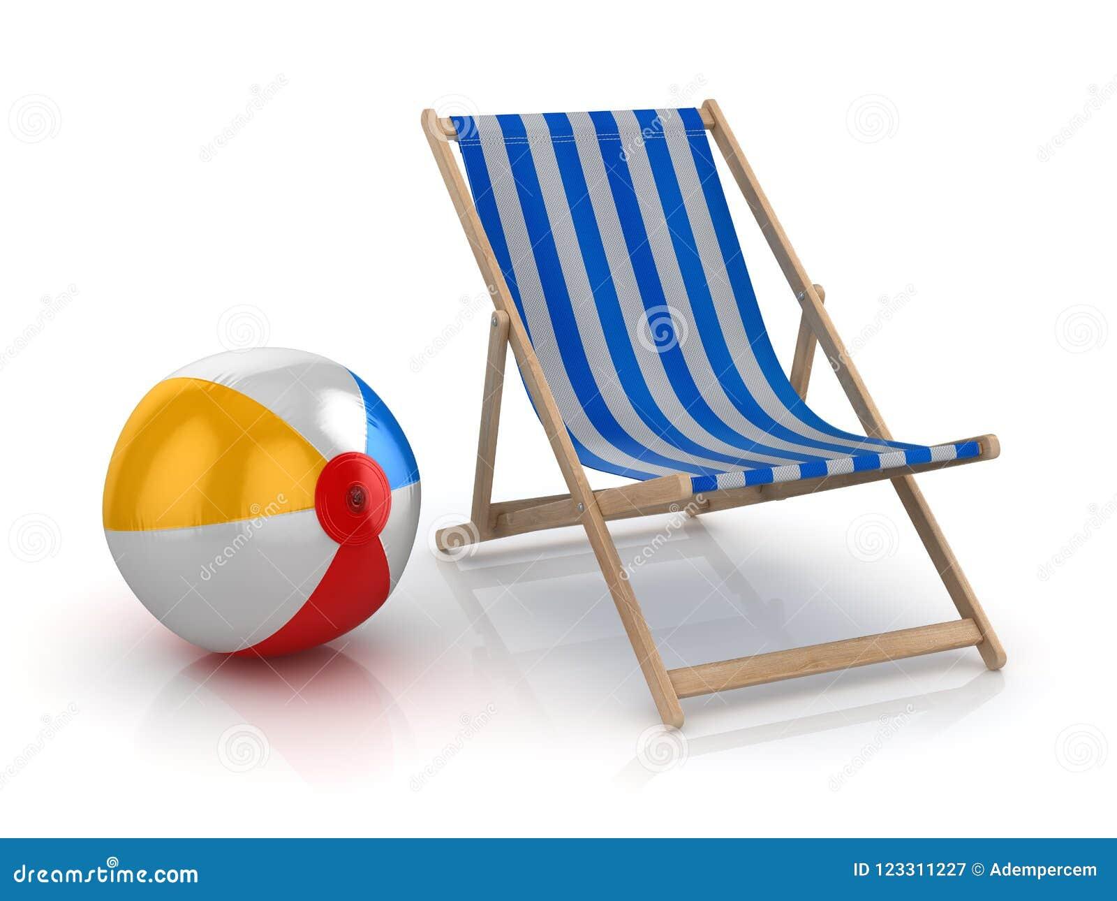 La silla colorida de la pelota de playa de playa ésta es una imagen  generada por daac8fd48af7