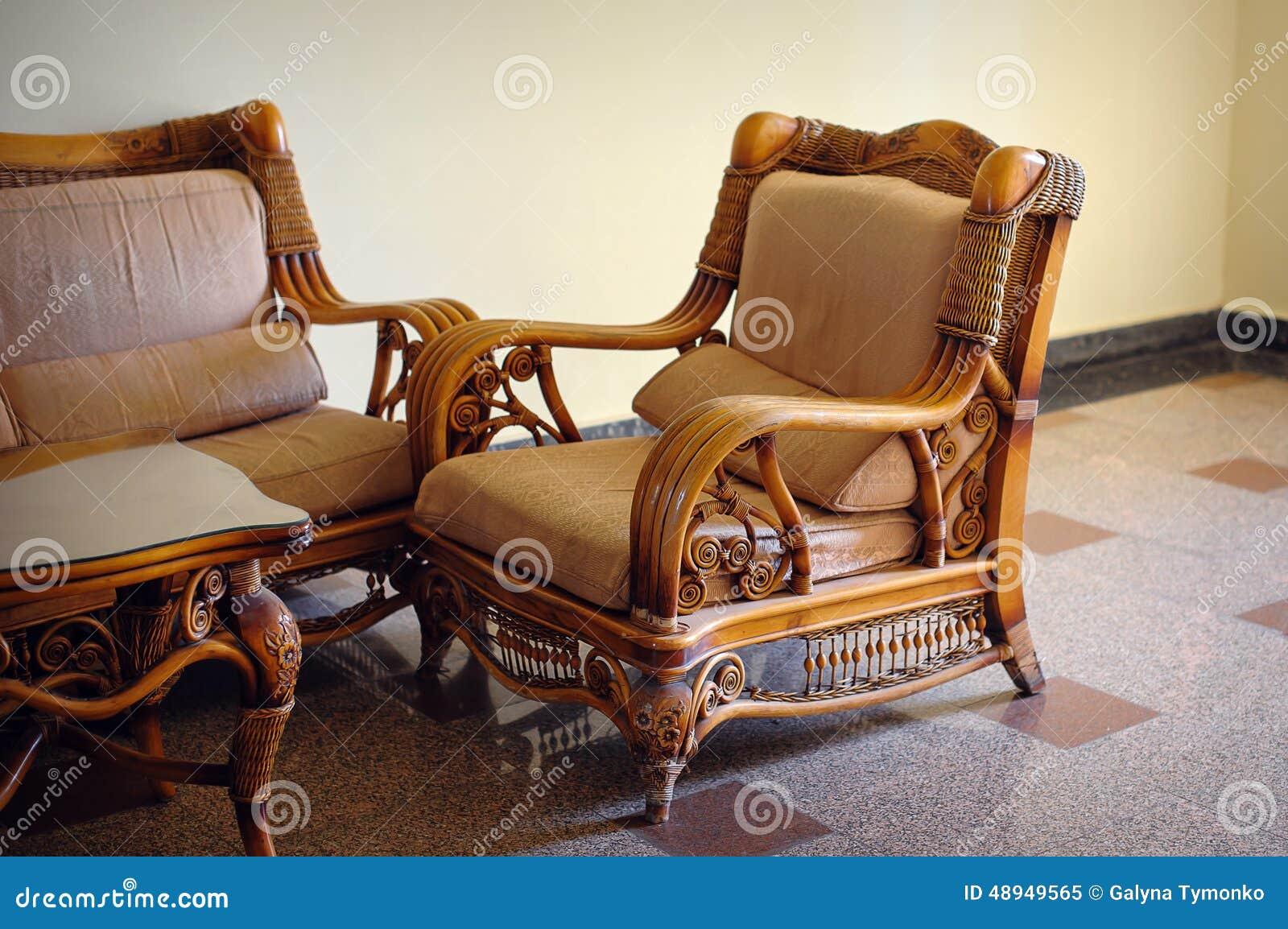 Vistoso Muebles De Sillas De Mimbre Marrón Colección - Muebles Para ...