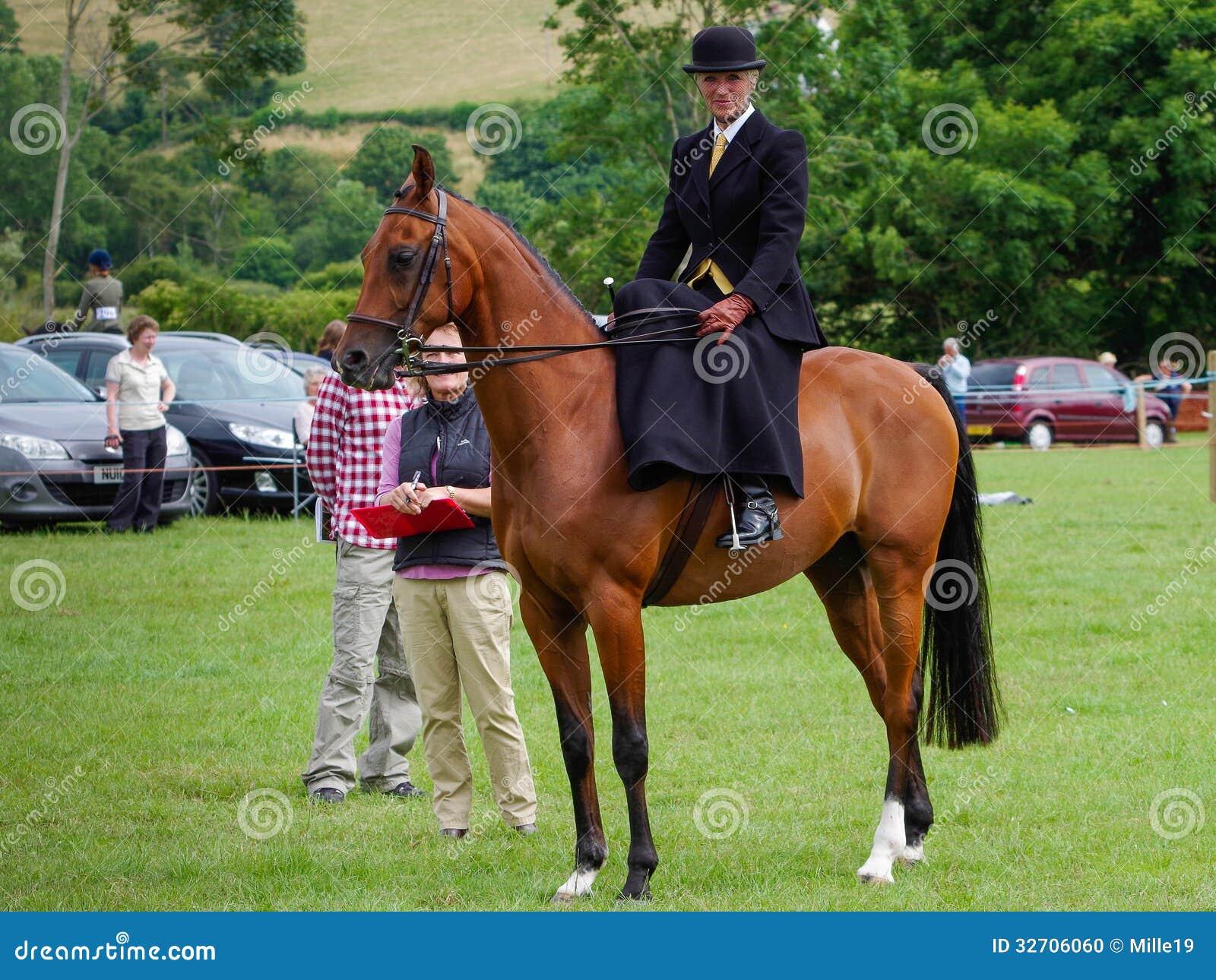 Silla de montar del lado del montar a caballo de la se ora imagen editorial imagen 32706060 - Silla montar caballo ...
