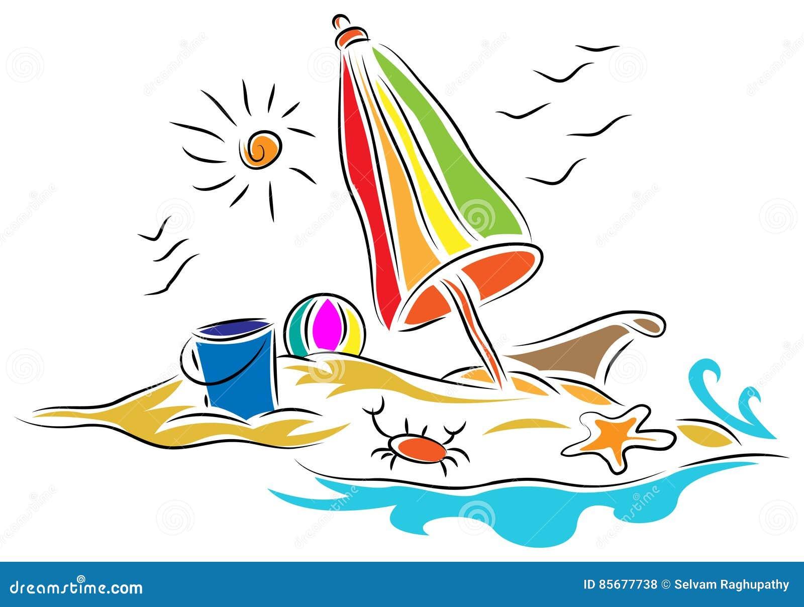 Silla de playa con el paraguas