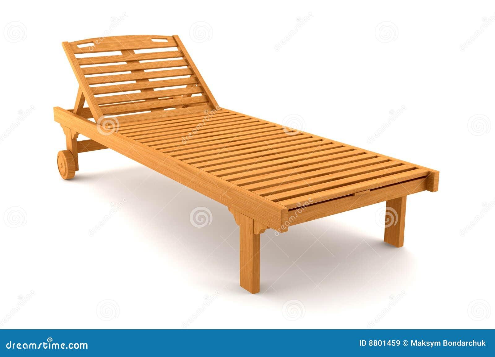 Silla de playa de madera aislada en blanco im genes de for Sillas para jugar a la play