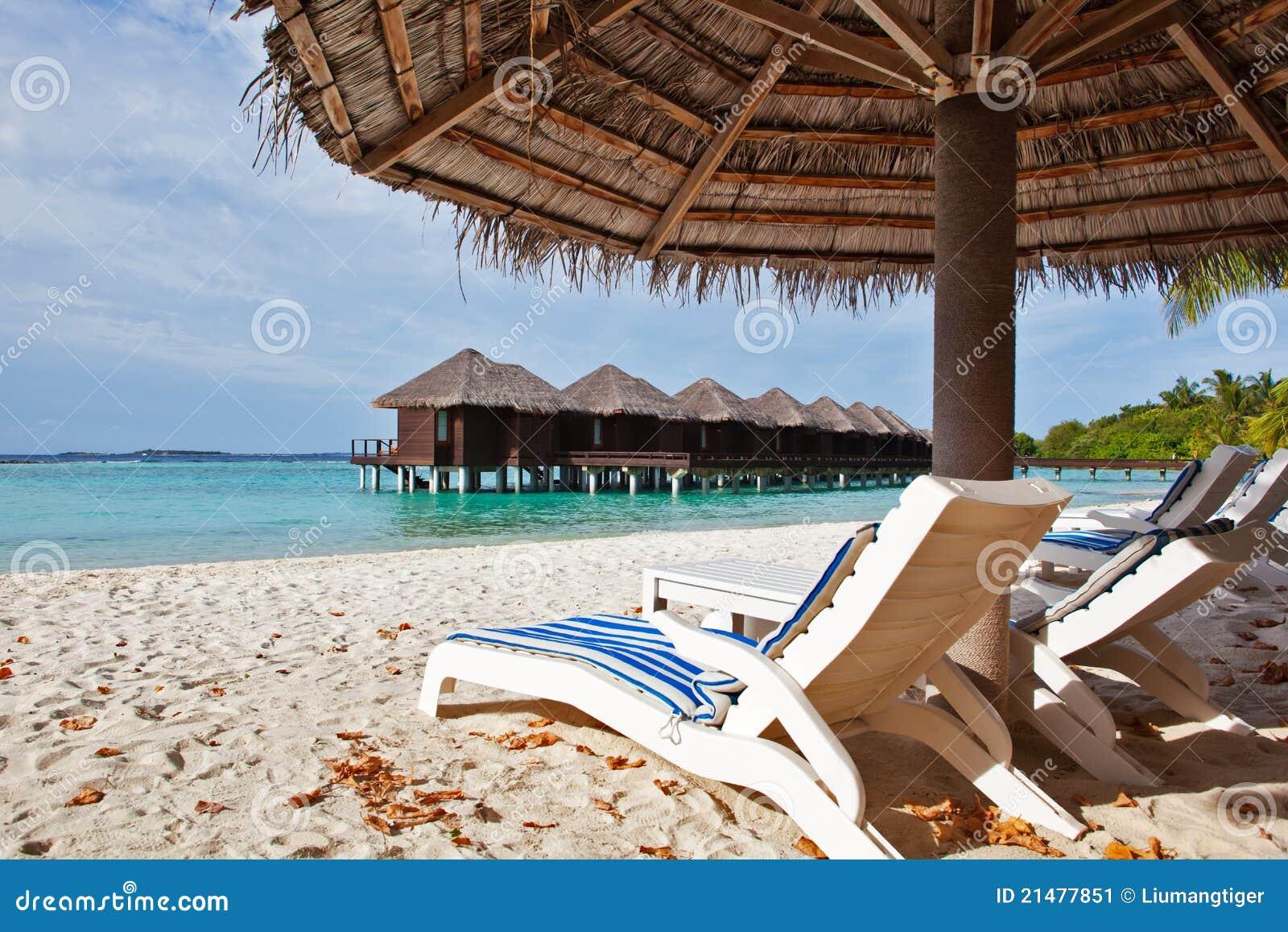 Silla de playa en Maldives
