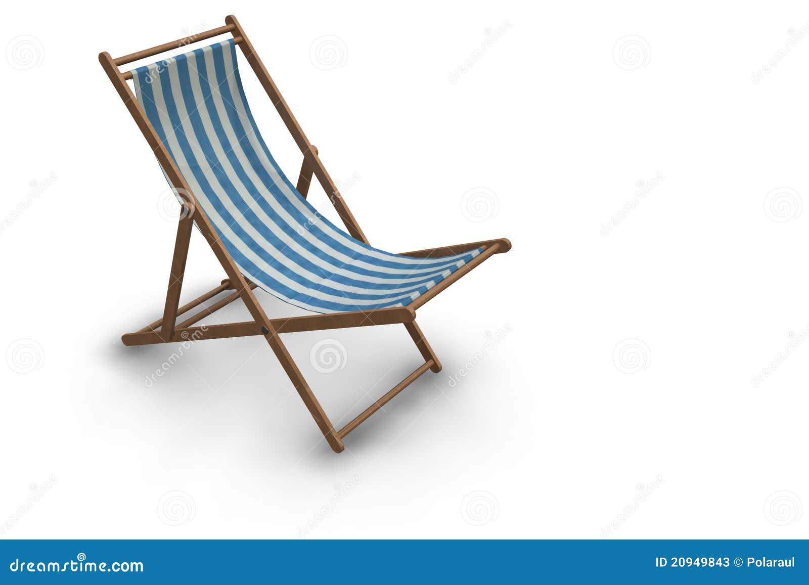 Silla de playa rayada fotos de archivo imagen 20949843 - Silla para la playa ...