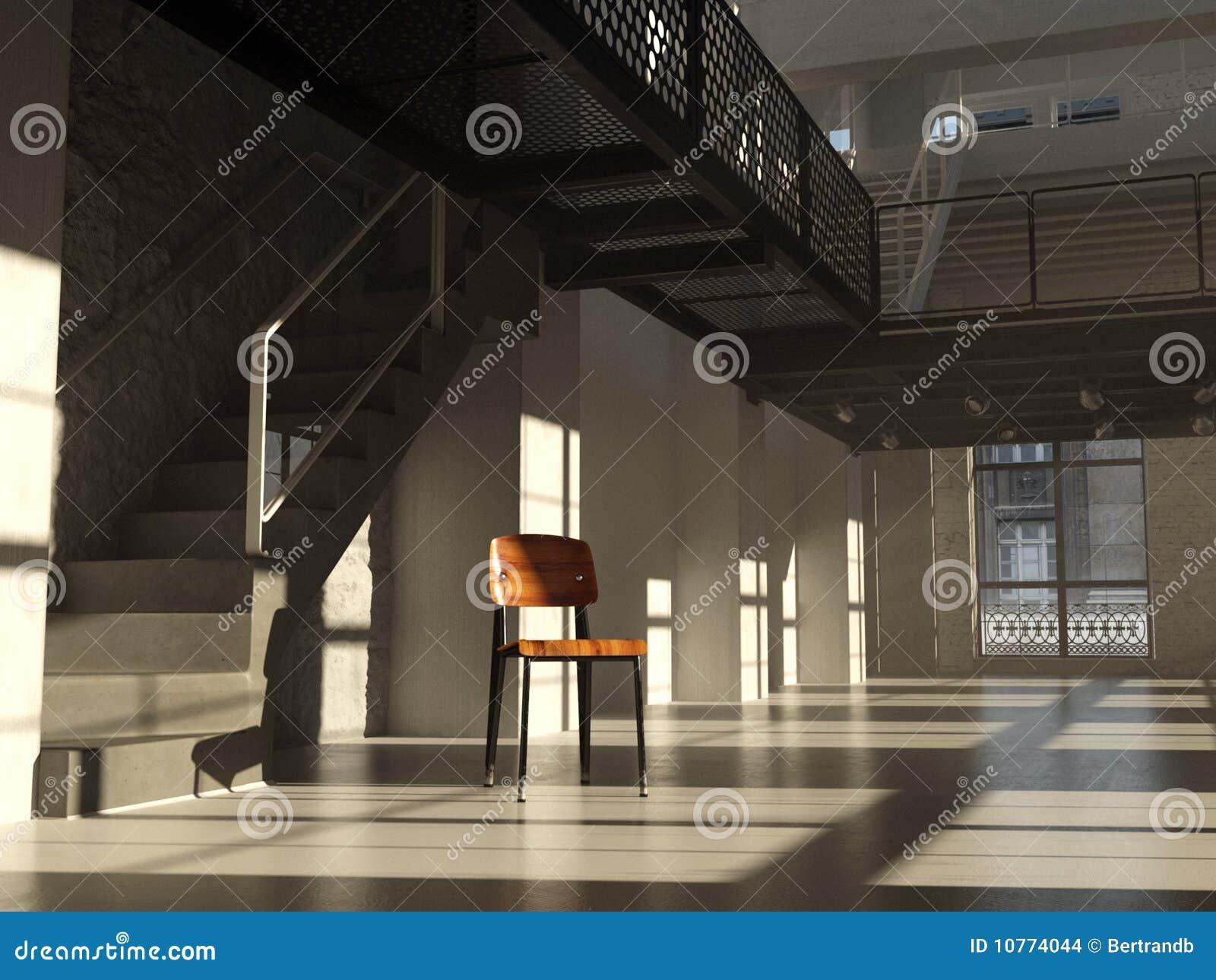 Silla en interior minimalista