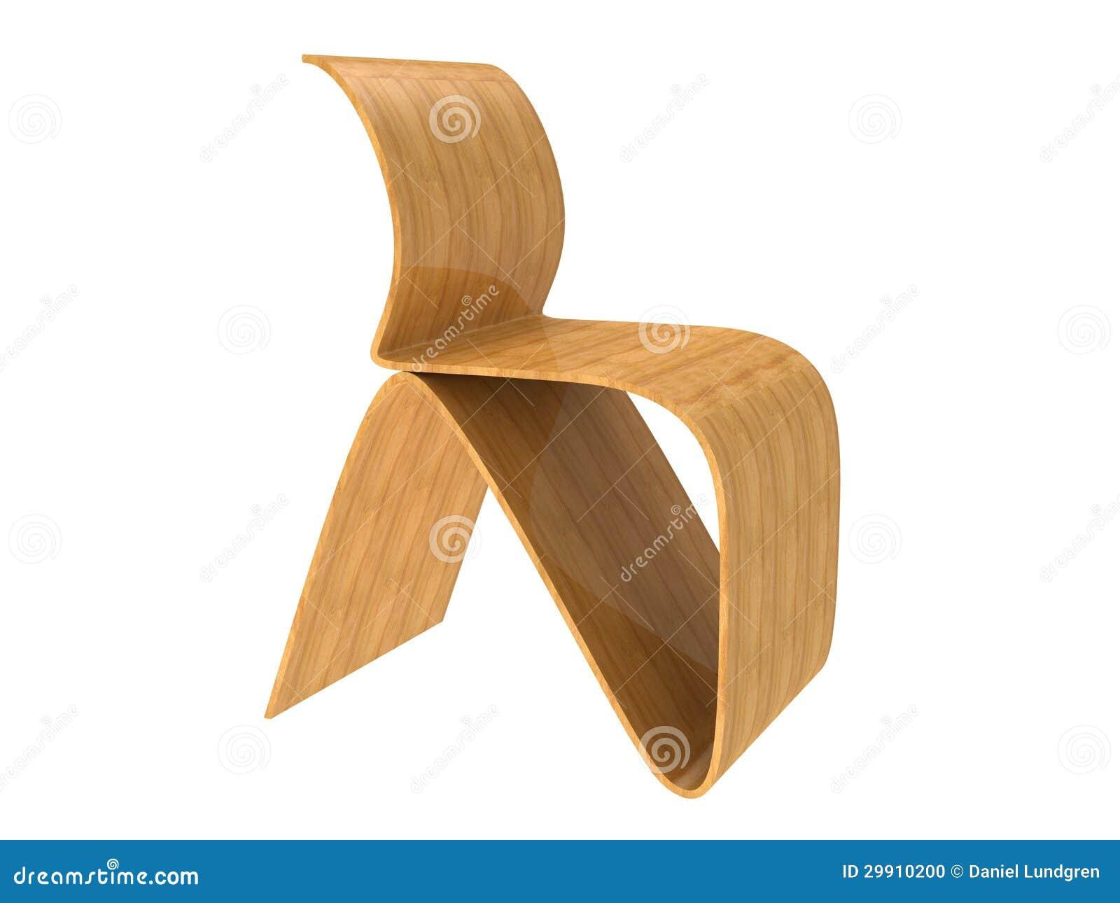 Silla moderna de la madera contrachapada foto de archivo for Sillas de madera modernas