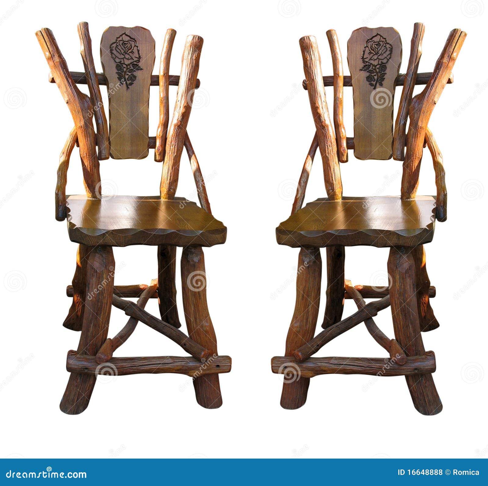 Sillas de madera antiguas viejas del trabajo hecho a mano - Sillas antiguas de madera ...