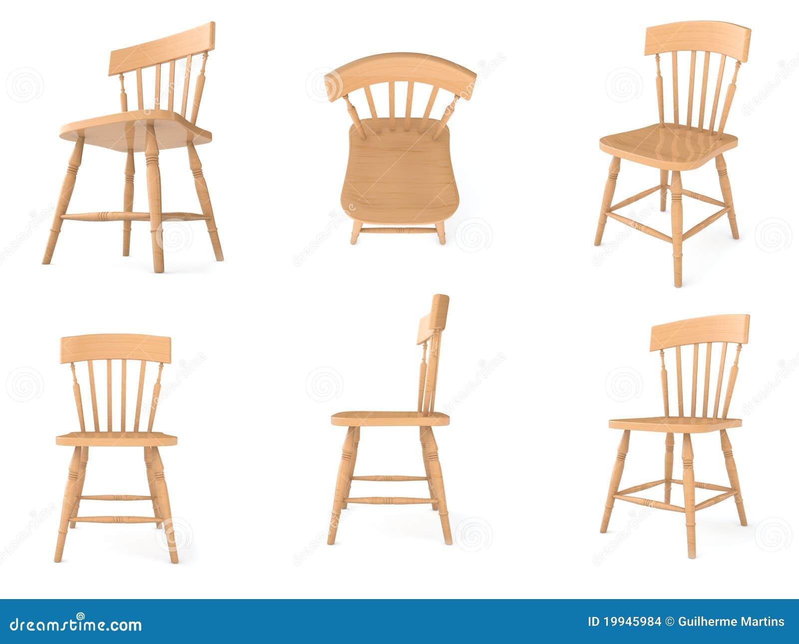 Sillas de madera en diversos ngulos stock de ilustraci n - Angulos de madera ...
