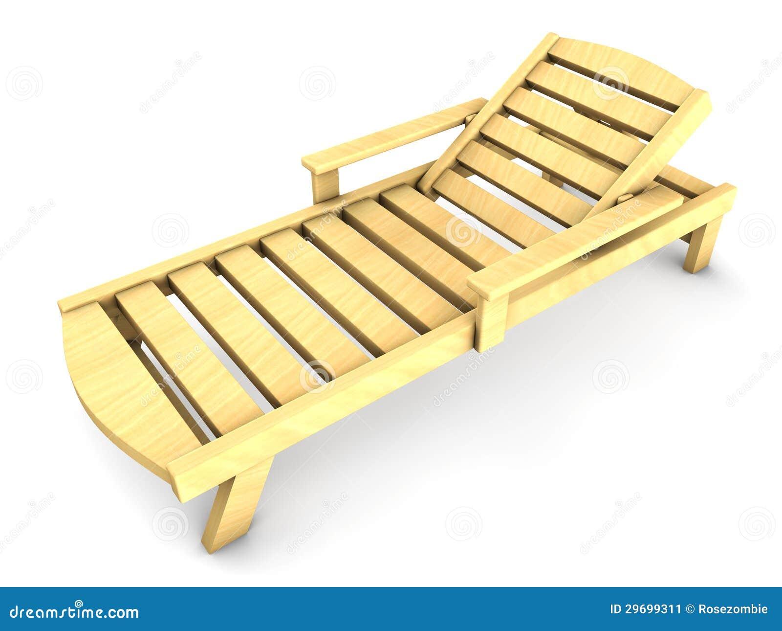 Sillas de playa de madera 3d imagen de archivo imagen for Sillas para jugar a la play