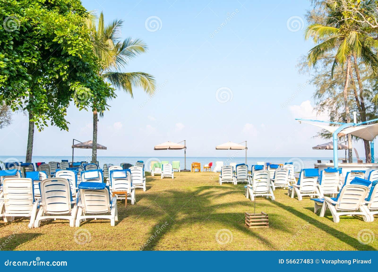 Sillas de playa en la playa foto de archivo imagen 56627483 - Silla para la playa ...
