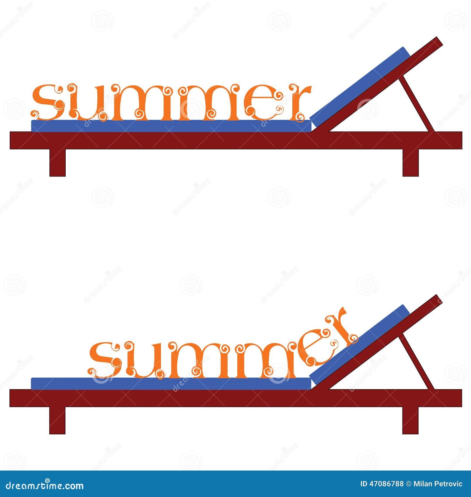 Sillas del verano para un ejemplo del vector de la playa