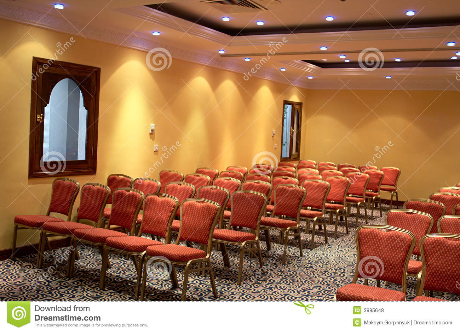 Sillas en la sala de conferencias fotos de archivo libres for Sillas para la sala