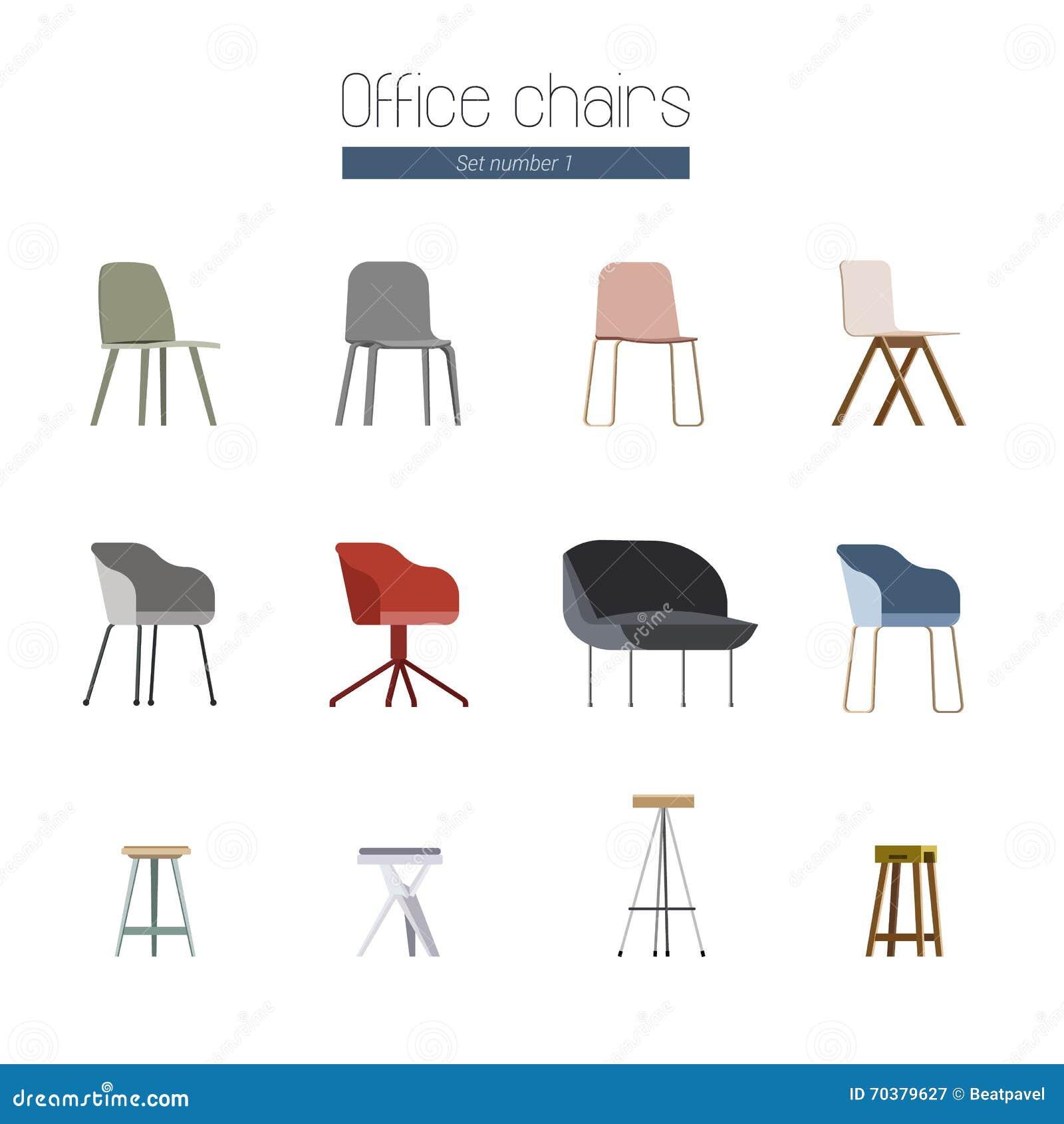 Escandinavas La Ilustración Stock Oficina De Sillas CthdQrs