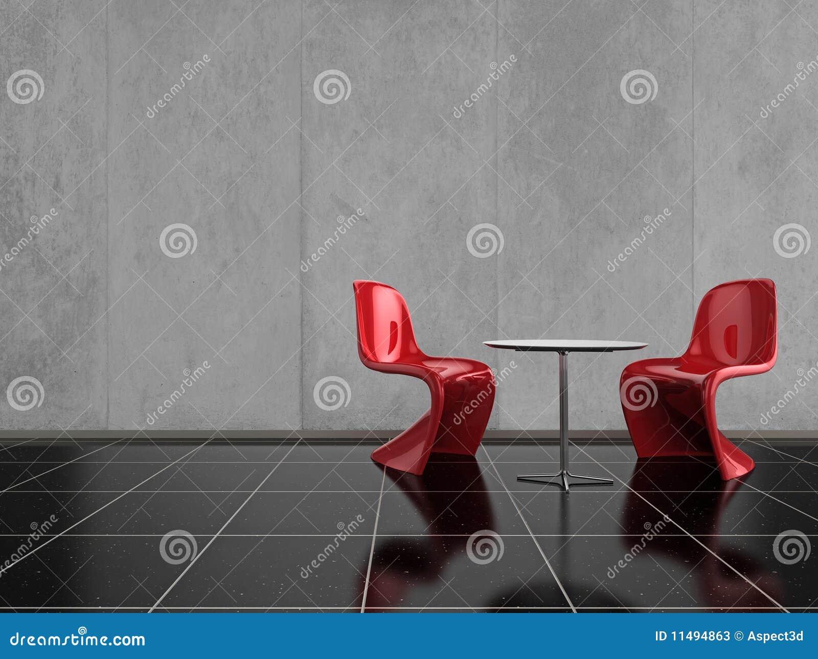Sillas rojas fotos de archivo imagen 11494863 for Suelo negro brillante