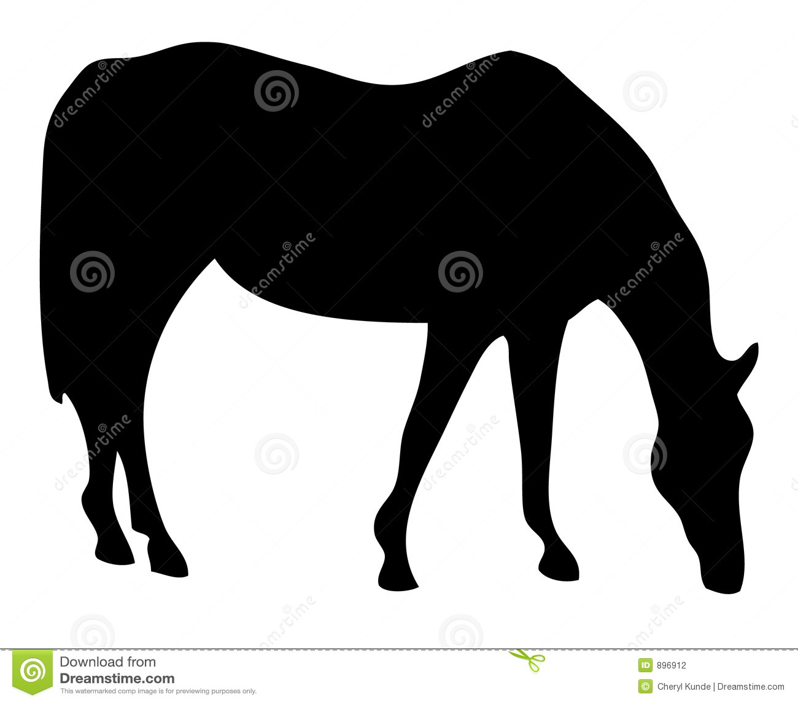Sillhouette pastwiskowy koń.