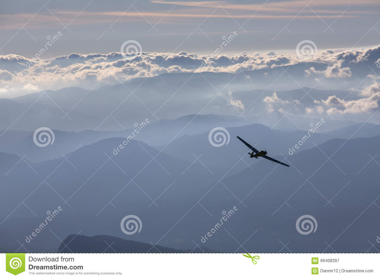 plane clouds and mountains - photo #3