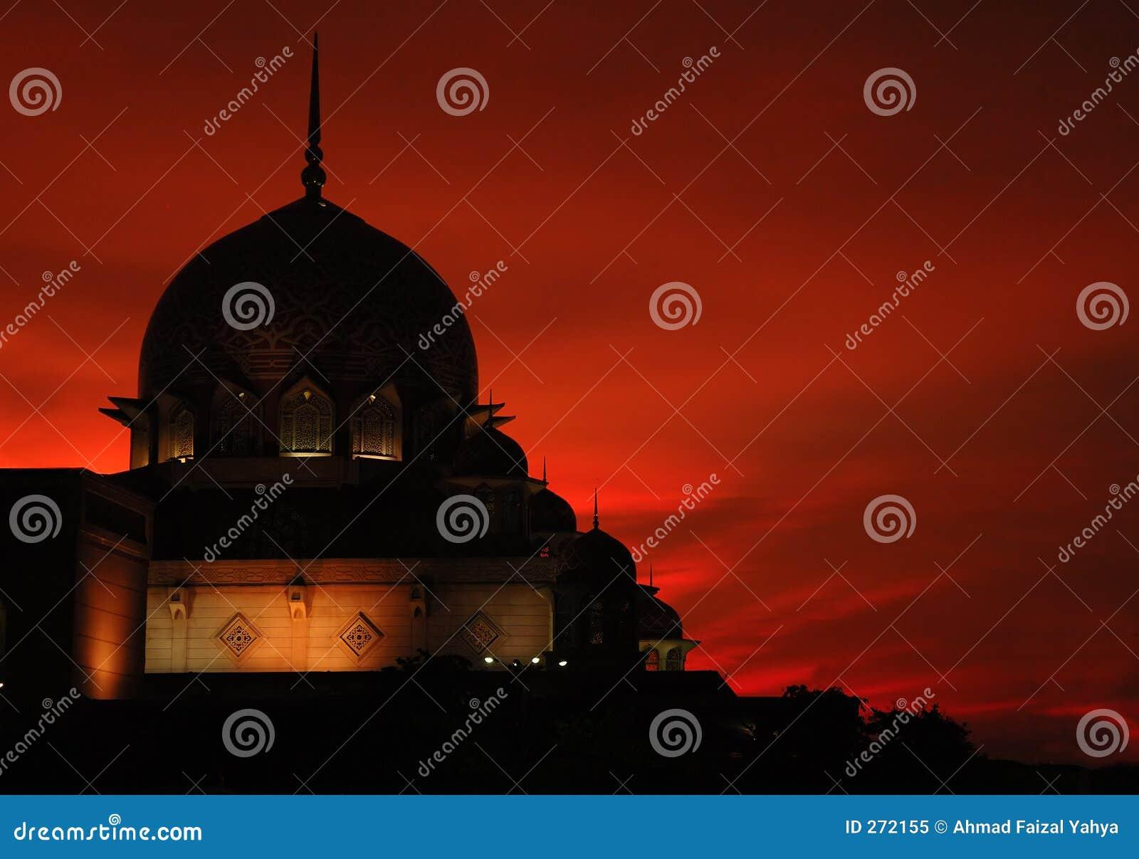Sillhouette van een moskee II