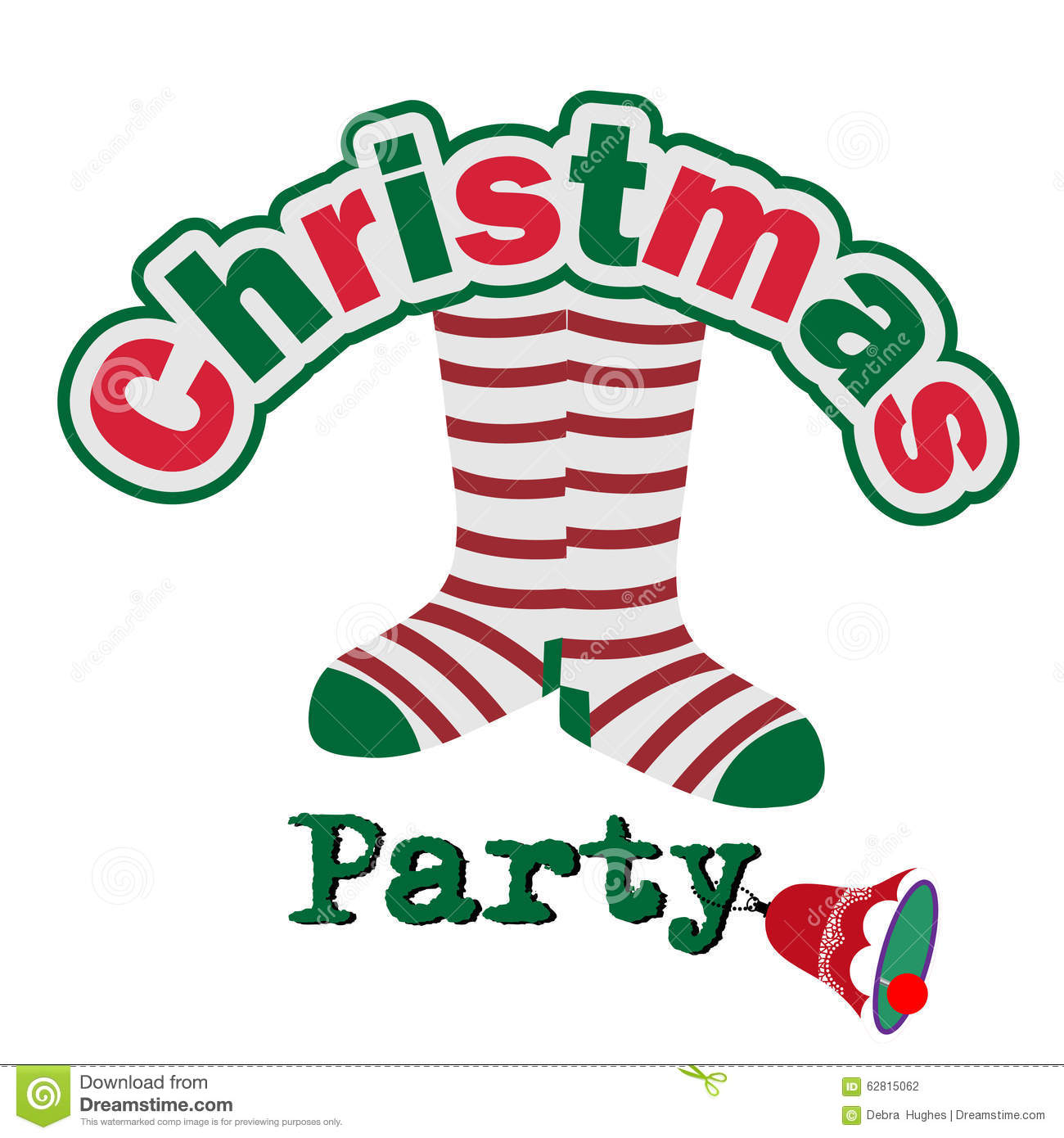 Silly Christmas Party Invitation Stock Vector Image 62815062