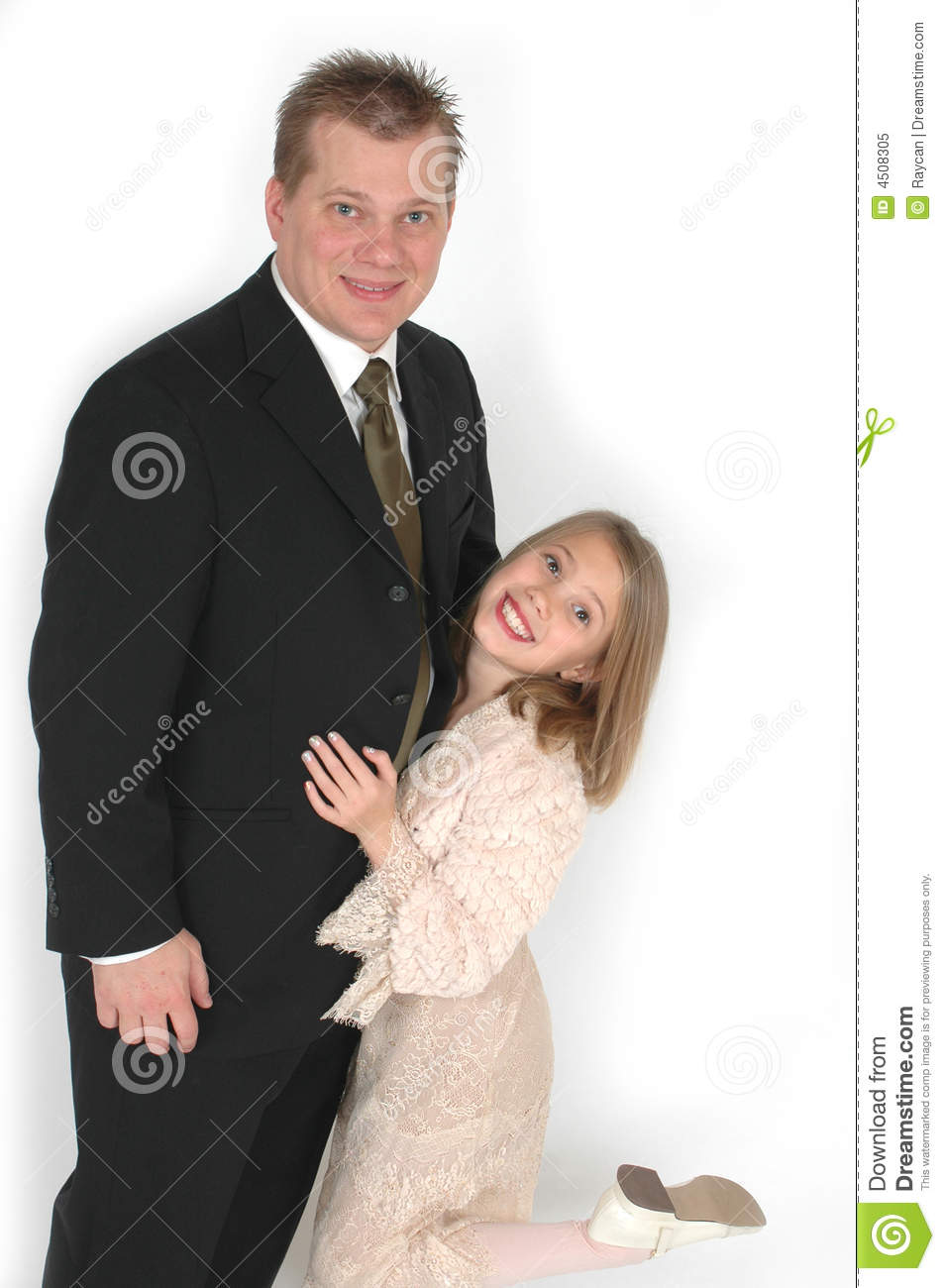 Silly Father and Daughter