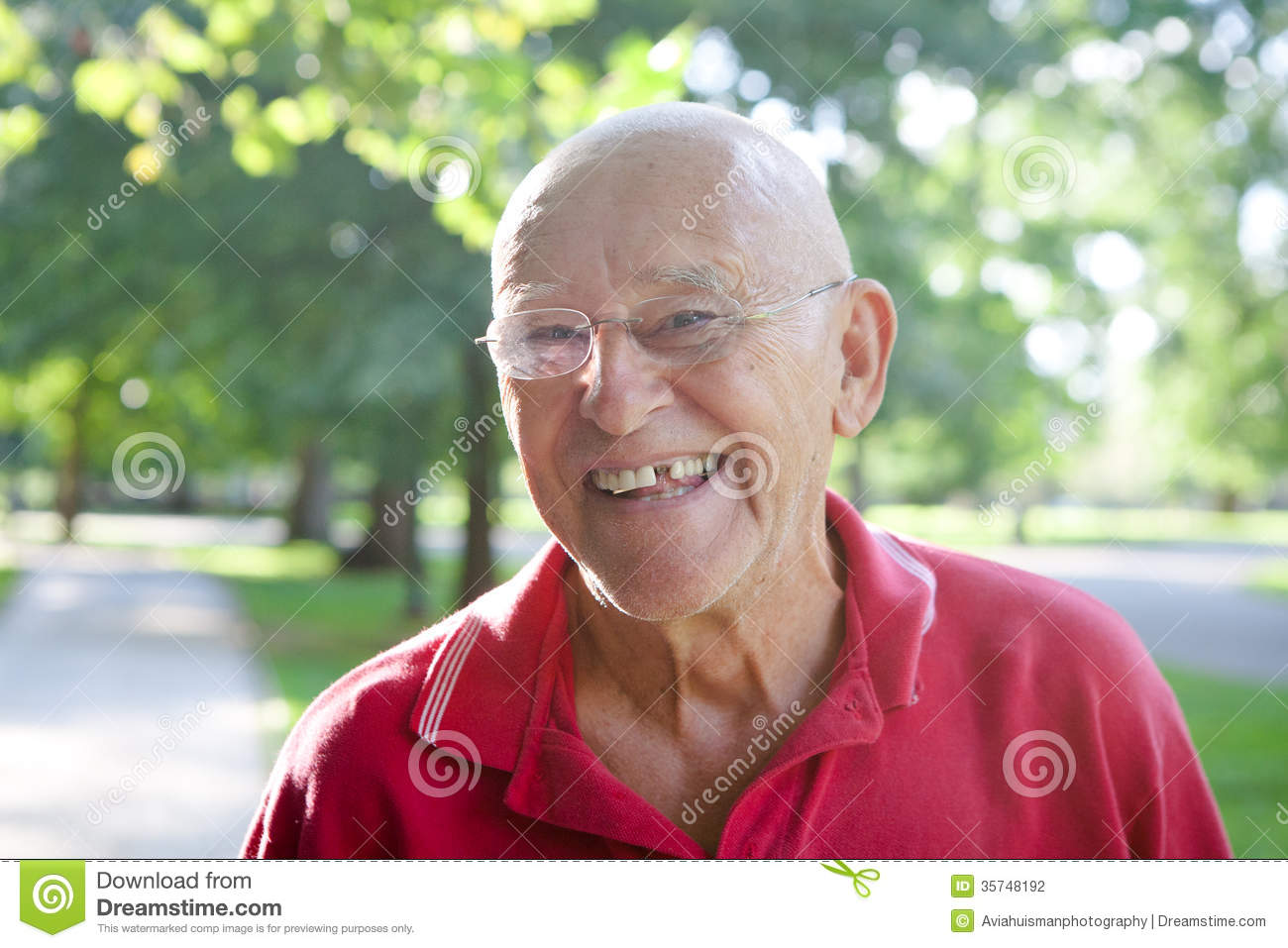Silly Old Man Missing Tooth Stock Photo Image 35748192
