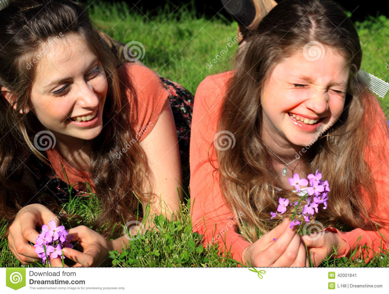 Silly Teen BFF Girls stock image. Image of horizontal - 42001841