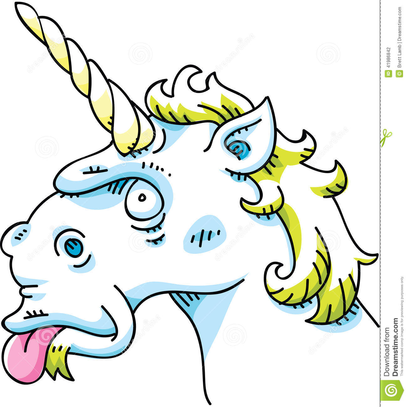 Silly Unicorn Stock Illustration Image Of Funny Horn