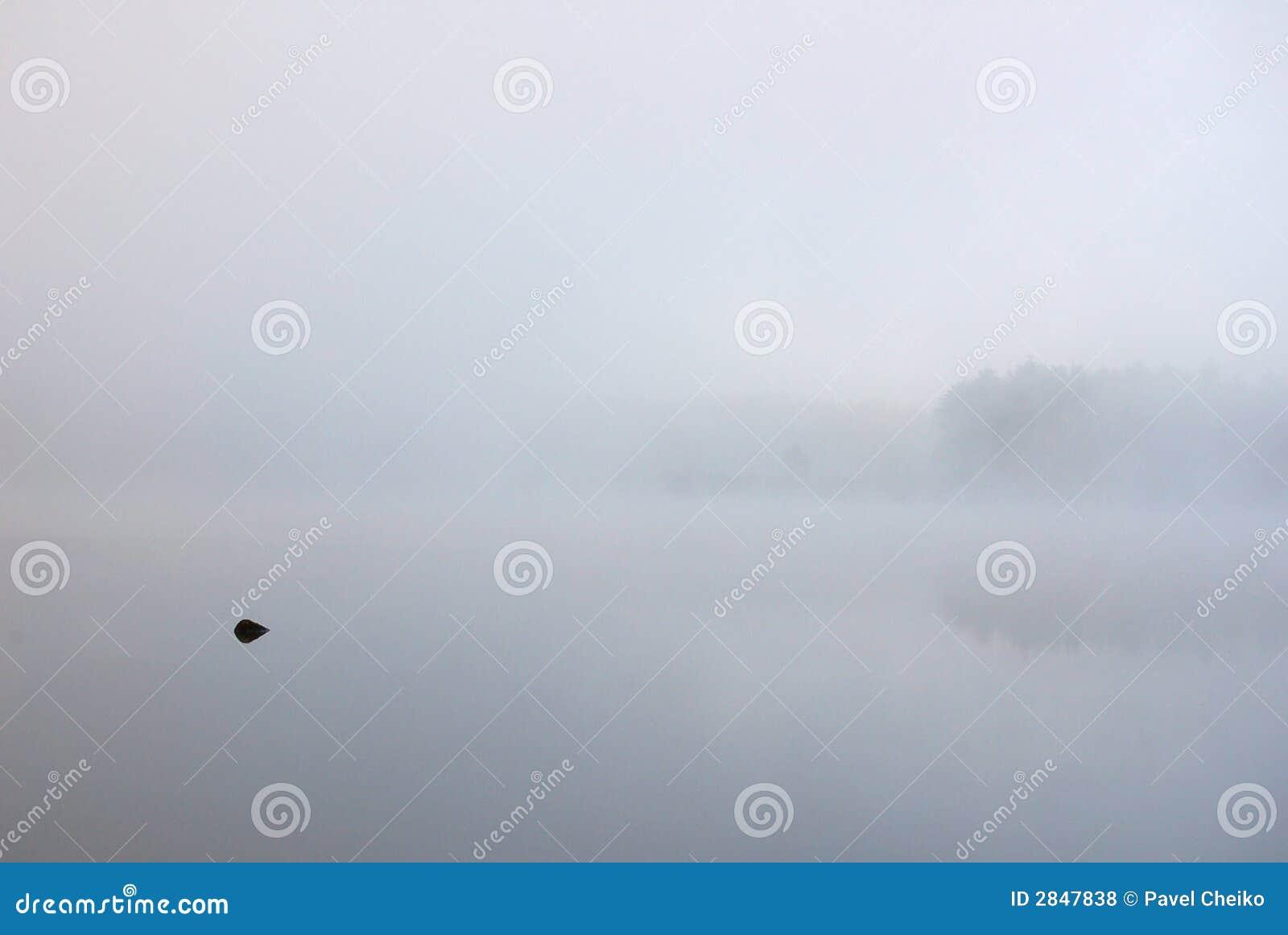 Silna mgła.