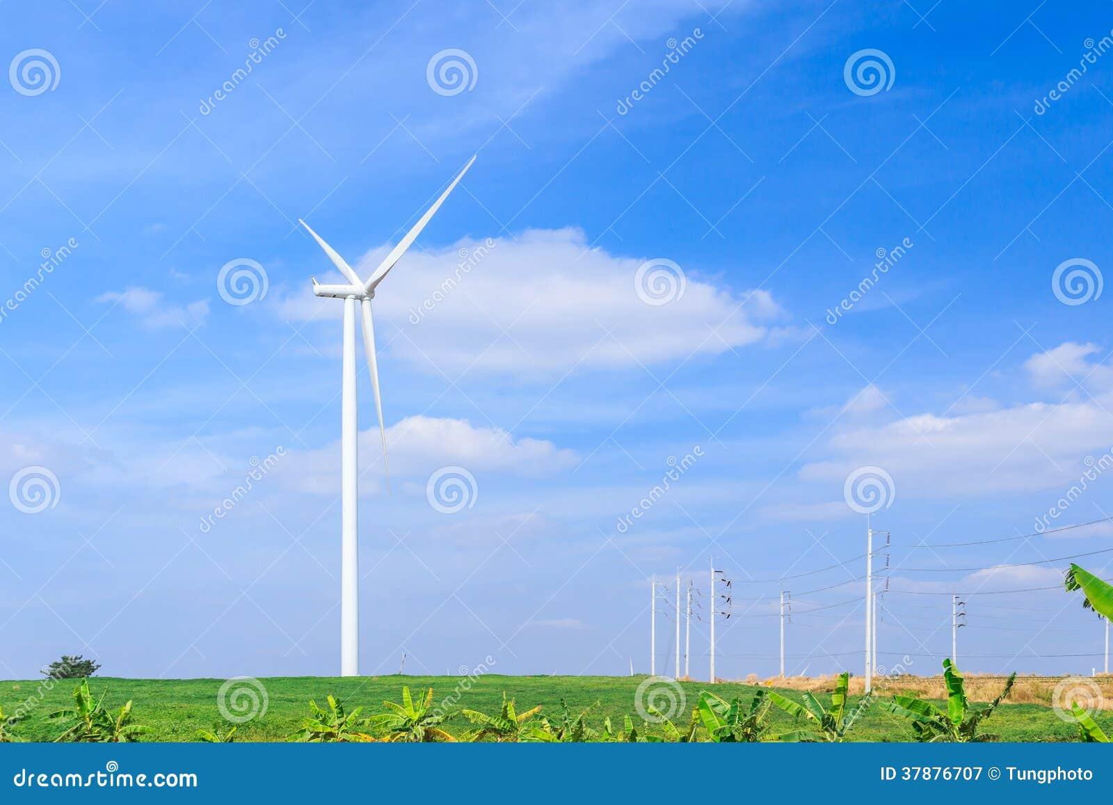 Silnik wiatrowy czystej energii pojęcie