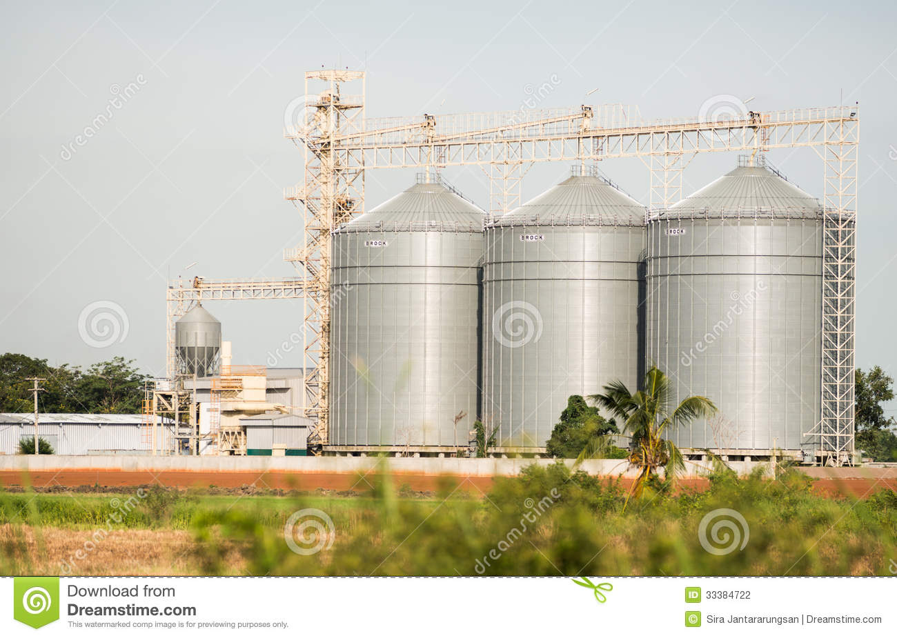 The Silo In Animal Food Production Stock Photo - Image of