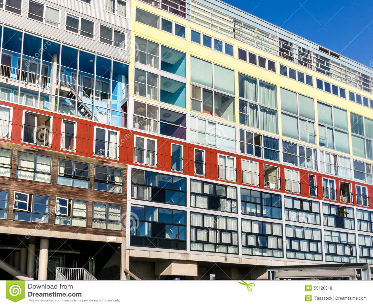 Silodam Apartment Building In Amsterdam Holland Editorial Stock Photo Image 55120018
