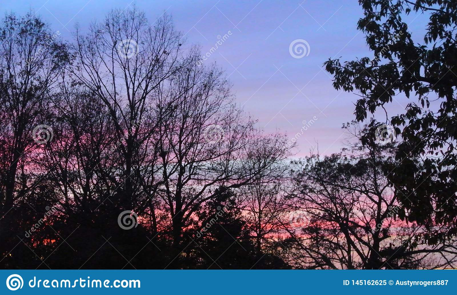 Siloet on a sunset