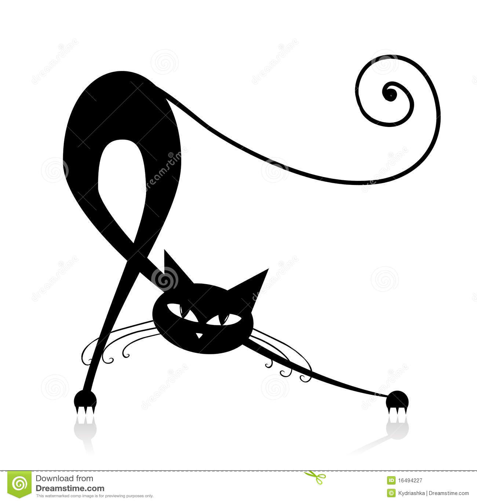 silueta de gato negro - photo #37